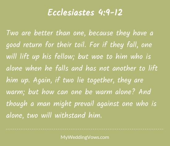 Ecclesiastes 4 9 12 Wedding Sermon Tbrb Info