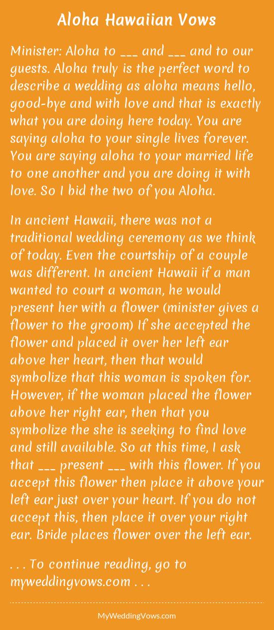 Hawaii Wedding Ceremony Script Wedding Ideas 2018