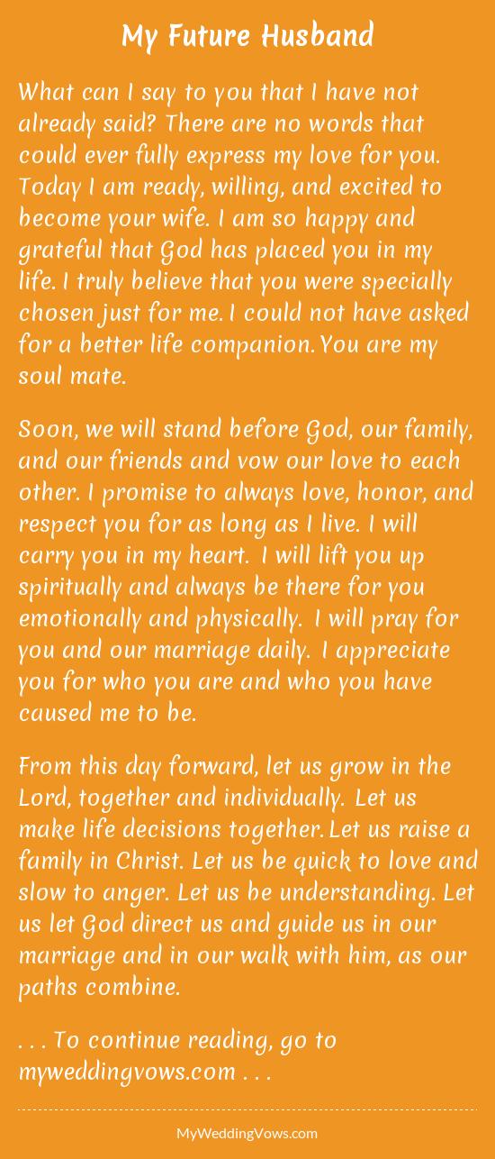 to my future husband