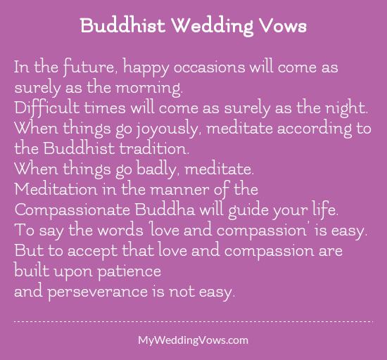 Buddhist wedding vowsg junglespirit Choice Image